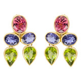 Multicolored Gemstone Drop Earrings