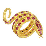 22k Gold & Ruby Snake Ring