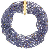 ​Multi-Strand Tanzanite Bead Necklace