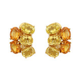 Yellow Beryl & Citrine Cluster Earrings