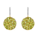 Peridot Disc-Shaped Drop Earrings