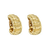 18k Gold Ribbed Half-Hoop Earclips