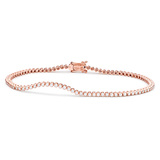 "18k Pink Gold & Diamond ""Stitch"" Bracelet"