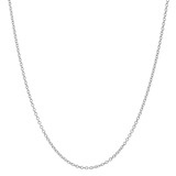 "Platinum Thin Chain Necklace (18"")"