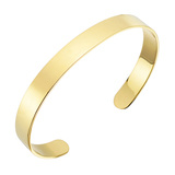 Polished 18k Yellow Gold Cuff Bracelet