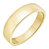 14k Gold Wide Hinged Bangle Bracelet