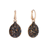 "Black Diamond ""Arabesque"" Drop Earrings"