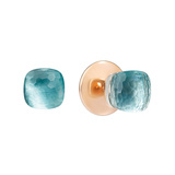 "​Blue Topaz ""Nudo"" Stud Earrings"