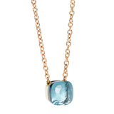 "Blue Topaz ""Nudo"" Pendant Necklace"