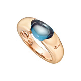 "18k Pink Gold & Blue Topaz ""Sassi"" Ring"