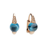 "London ​Blue Topaz & Brown Diamond ""M'ama Non M'ama"" Earrings"
