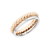 "18k Gold & Diamond ""Milano"" 2-Row Band Ring"