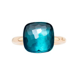 "Maxi London Blue Topaz ""Nudo"" Ring"