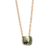 "Prasiolite ""Nudo"" Pendant Necklace"