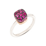 "​Pavé Ruby ""Nudo"" Ring"
