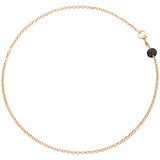 "Pavé Black Diamond ""Sabbia"" Chain Necklace"