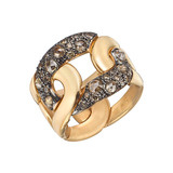 "​18k Pink Gold & Brown Diamond ""Tango"" Ring"