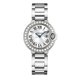 ​Ballon Bleu 28mm White Gold & Diamond (WE9003Z3)