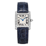 ​Tank Francaise Small White Gold & Diamonds