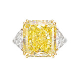13.01 Carat Fancy Intense Yellow Diamond Ring