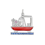 &quot;Dog in the Tub&quot; Gem-Set Charm