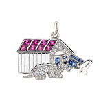 &quot;Man in the Dog House&quot; Gem-Set Charm