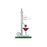 """19th Hole"" Gem-Set Charm"