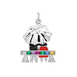 &quot;Couple on a Park Bench&quot; Gem-Set Charm