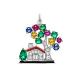 &quot;Dream Home&quot; Gem-Set Charm