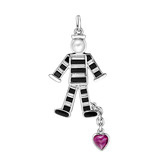 """Prisoner of Love"" Gem-Set Charm"