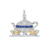 &quot;Tea for Two&quot; Gem-Set Charm