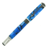 &quot;Pinot&quot; Pen with &#039;Vibrant Blue&#039; Acrylic Acetate Barrel