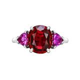 3.87 Carat Red ​Spinel & Pink Sapphire Ring