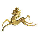 French Retro 18k Gold Horse Brooch