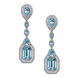 "Aquamarine ""Parisian Deco"" Earrings"