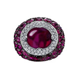 Burmese Ruby & Diamond Ring