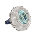 15.03 Carat Paraiba Tourmaline Cocktail Ring