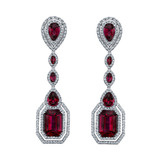 "Rubellite ""Parisian Deco"" Earrings"
