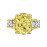 10.58 Carat Yellow Sapphire Cocktail Ring