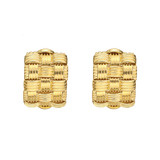 18k Gold &quot;Appassionata&quot; Half-Hoop Earstuds