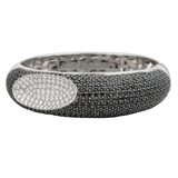 "​Black Sapphire & White Diamond ""Capri Plus"" Bangle"