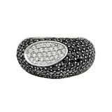 "Black Sapphire & White Diamond ""Capri Plus"" Ring"