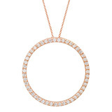 &quot;Circle of Life&quot; Diamond Pendant (~1 ct tw)