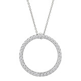 """Circle of Life"" Diamond Pendant (~2/5 ct tw)"
