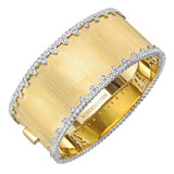 18k Gold & Diamond Cuff Bracelet