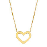 Small 18k Gold Heart Pendant Necklace