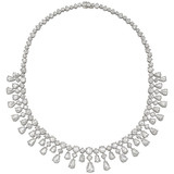 Rose-Cut Diamond Fringe Necklace (~38 ct tw)