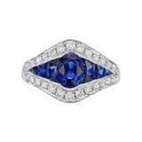 ​Sapphire & Diamond Dress Ring