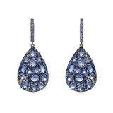 Blue Sapphire Pear-Shaped Drop Earrings
