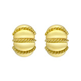 &quot;Shrimp&quot; 18k Gold Earclips